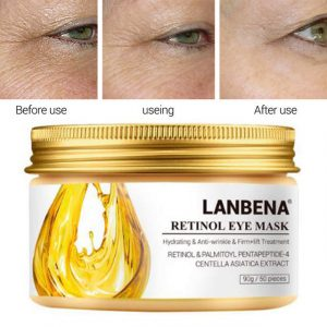 LANBENA RETINOL EYE MASK VC EYE PATCH FACE CARE REMOVE DARK CIRCLE AGELESS ANTI-PUFFINESS LIFTING FIRMING SERUM SKIN CARE 50PCS