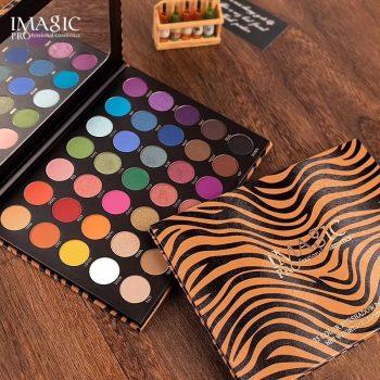 IMAGIC 35 color eyeshadow palette waterproof matte glitter eye shadow primer luminous eyeshadow ladies gift Qual Codigo Rastreio