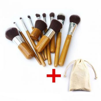 Bambo Make up brush set 11 pieces