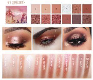 Focallure Sunset 12 Colors Eyeshadow Palette