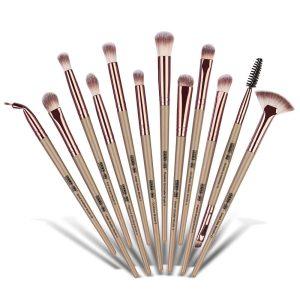 MAANGE Eye Makeup Brush Set, 12pcs bronze Golden