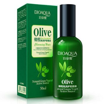 BIOAQUA Olive Essential Charming Nourishes Hair Oil Atural Green Veget Supple Moisturizing Olive Extract 50ml