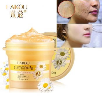 LAIKOU Camomile Facial Scrubs Pure Natural Organic Scrub Gel Facial Body Exfoliating Body Scrub, Skin Lightening