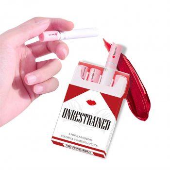 unrestrained 4pcs New Cigarette Lipstick Set Matte Velvet long-lasting Lipstick