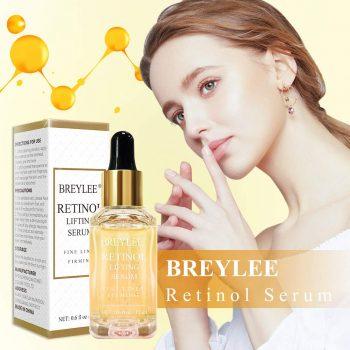 Retinol Serum, BREYLEE Anti Aging Anti Wrinkle Face Serum Vitamin A Retinol with Natural Ingredients for Skin Care Eye Care Fade Lines Acne Scars Dark Spots (17ml, 0.6 Fl Oz)