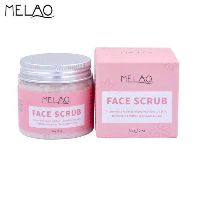 243270198MELAO Moisturizing Exfoliate Facial Scrub Wrinkle Blemishes Acne Scars Removing for Dull or Dry Skin 60g E