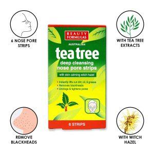 Tea Tree Deep Cleansing Nose Pore Strips - 6 Pics -