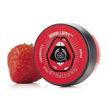 The Body Shop Born Lippy Pot Lip Balm – Strawberry (10ml)