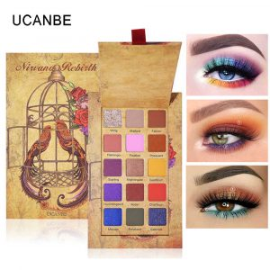 UCANBE NIWANA REBIRTH (Cageling) 15 Color Eyeshadow Palette Shimmer Matte Glitter Eye Shadow Pallete Pigmented Long-Lasting Waterproof Makeup Kit