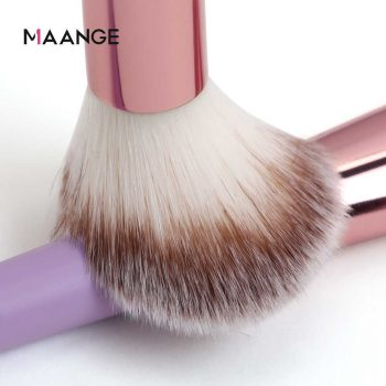 maange 14 pcs makeup brush set purpul color