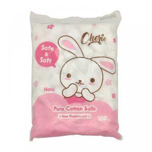 pure chery safe & soft haru cotton wool ball 40g.