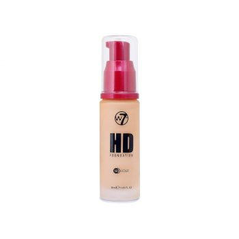 W7 12 Hour HD Foundation - Honey - New Ultra Smooth Full Coverage Formula
