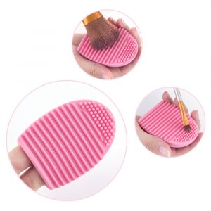 Makeup Brush Cleaner Silicone Makeup Brush Cleaning Mat, Brush Cleaner Pad,Cosmetic Brush Cleaner, Portable Washing Tool