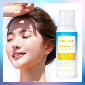 Lanbena Sunscreen Spray Whitening Skin Protection Pomegranate Face Body Sunblock Isolation Spray