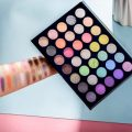 Beauty Glazed Blooming Up Eyeshadow Palette, Pro 35 Colors Gorgeous Makeup Palette Vibrant High Pigmented Matte Shimmer Glitter and Iridescent Finishes Shades Eye Shadow Palettes