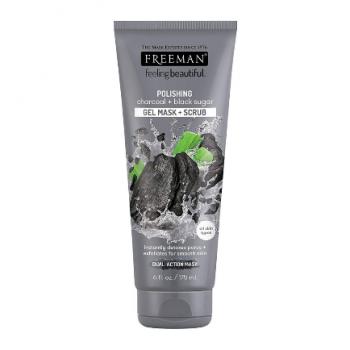 FREEMAN Polishing Charcoal And Black Sugar Gel Mask And Scrub (175 ml)