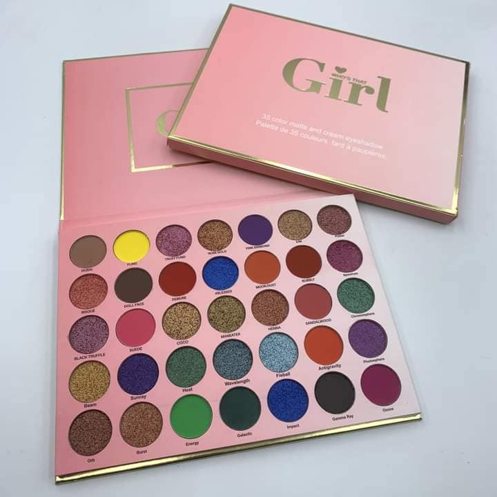 Who is this GIRL! 35 color shimmer and matte eye shadow palate 6948225560142
