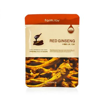 Farm Stay Visible Difference Mask Sheet – Red Ginseng 23 ml