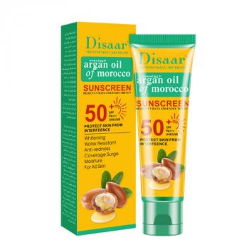 DISAAR Spf50+ Argan Oil Sunscreen Cream Moisturizing Anti-uv Repair Damaged Skin Sunscreen
