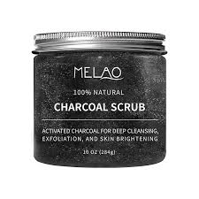 MELAO Activated Charcoal face & Body Scrub (284 g)