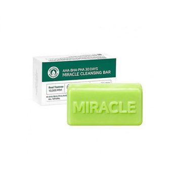 This soap bar works wonders on your skin in just 30 days! Suitable for sensitive and acne-prone skin, the soap is infused with AHA to slough off dead skin cells; BHA to remove excess sebum; PHA to prevent moisture loss; and tea tree to combat acne. Quick, convenient and highly-effective, SOME BY MI's AHA, BHA, PHA 30 Days Miracle Cleansing Bar is a fresh and gentle skin-nourishing bar, that's polishes skin to perfection, Brimming with exfoliating, hydrating and soothing ingredients, it can be relied on to banish blemishes, balance skin-tone and restore troubled skin to its radiant best.