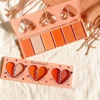 kiss beauty 6 color Blush palette