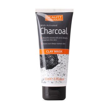 Beauty Formulas With Activated Charcoal Clay Mask (100 ml)