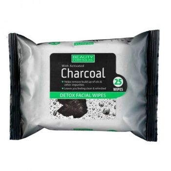Beauty Formulas Charcoal Facial Wipes 25 Wipes