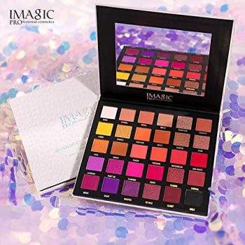 IMAGIC PROFESSIONAL COMSETICS GALAXY SHINE 30 COLORS EYESHADOW PALETTE D'OMBRESS A PAUPIERES EY-336
