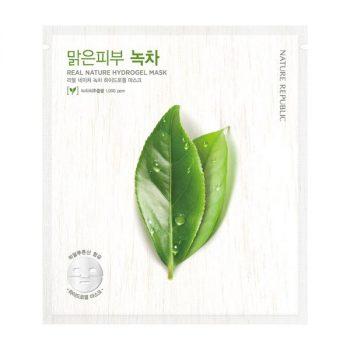 REAL NATURE GREEN TEA HYDROGEL Sheet MASK