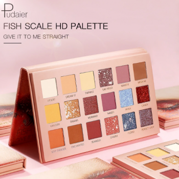 Pudair FISH SCALE HD 18 Color EYE SHADOW PALETTE
