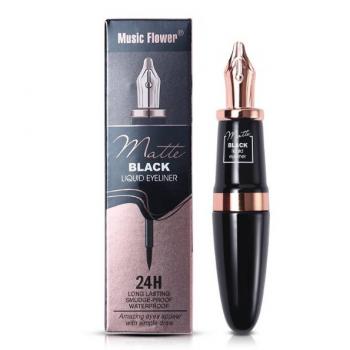 Music Flower Long Lasting 24h Matte Liquid Waterproof Black Eyeliner Pencil