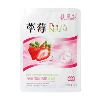Zhenlibao Pure Natural Strawberry Whitening face sheet Mask 30gm