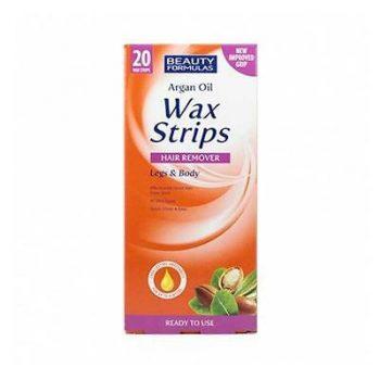 Beauty Formulas Argan Oil Wax Strips Hair Remover Legs & Body
