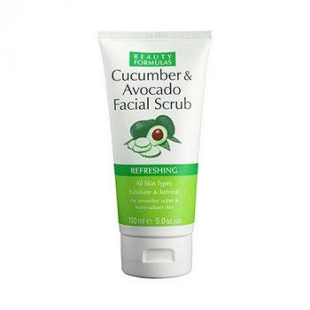 Beauty Formulas Cucumber and Avocado Facial Scrub (150ml)