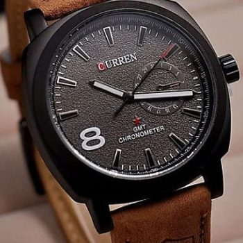8139 Analog Wrist Watch - Brown and White