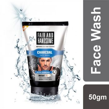 Emami Fair & Handsome Charcoal Face Wash (50gm)