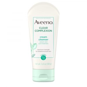 Aveeno Clear Complexion Cream Face Cleanser With Salicylic Acid (141gm)