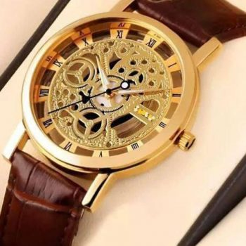 SEWOR Leather Analog Watch For Men