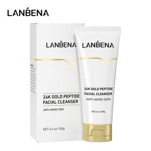 Lanbena 24k gold peptide Facial Cleanser