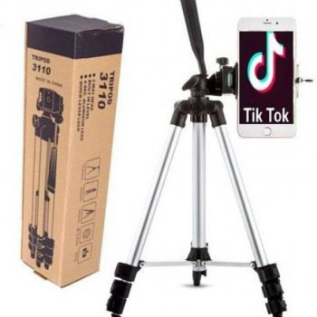 Best 3110 Tripod Aluminum Alloy For Camera and Mobile - Silver