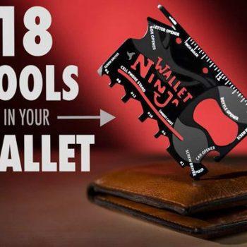 Wallet Ninja- 18 in 1 Multi Functional Ninja Wallet Pocket Tools