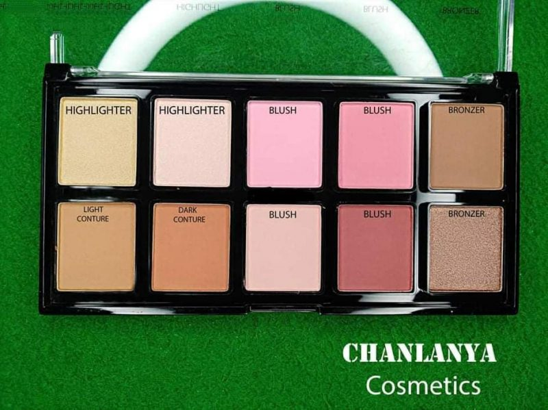 Chanlanya 10 Color Highlighter, Blush, Contour and Bronzer Palette